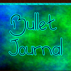 light blue bullet journal