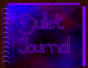 purple bullet journal