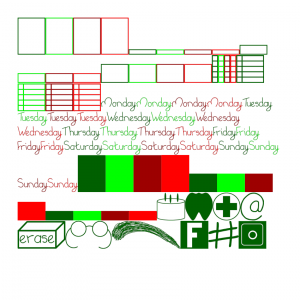 Xmas themed sticker kit