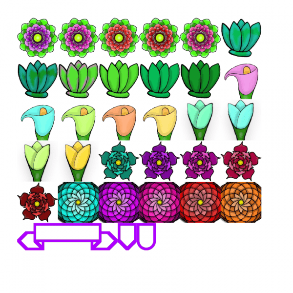 flower themed sticker kit